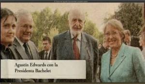 Agustín Edwards y Michelle Bachelet