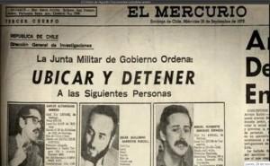 El Mercurio días despues del Golpe contra el Gobierno de la Unidad Popular