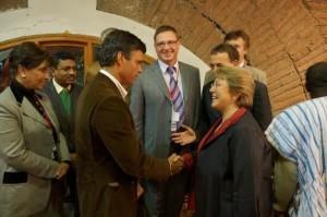 Bachelet con golpista venezolano Leopoldo López