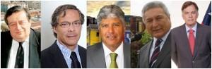 Hernán Pinto, Aldo Cornejo, Jorge Castro, Iván de La Maza, Raúl Celis.