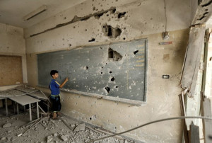 escuela destruida