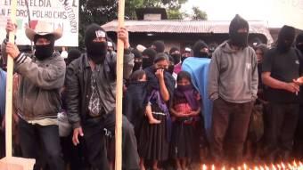 Zapatistas iluminan caminos de Chiapas por Ayotzinapa