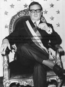 Retrato oficial del Presidente Salvador Allende