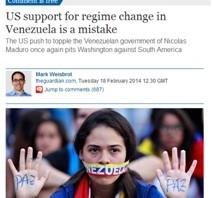 """En diario inglés """"The Guardian"""" afirman que EEUU financia a los grupos golpistas en Venezuela"""