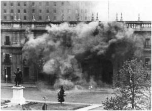 La Moneda el 11 de septiembre de 1973.