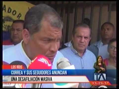Ecuador: Rafael Correa abandona Alianza País. Increíble traición de Lenin Moreno