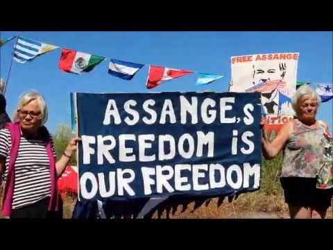 A pesar de la Covid-19 reanudamos en Estocolmo acciones solidarias por Julian Assange