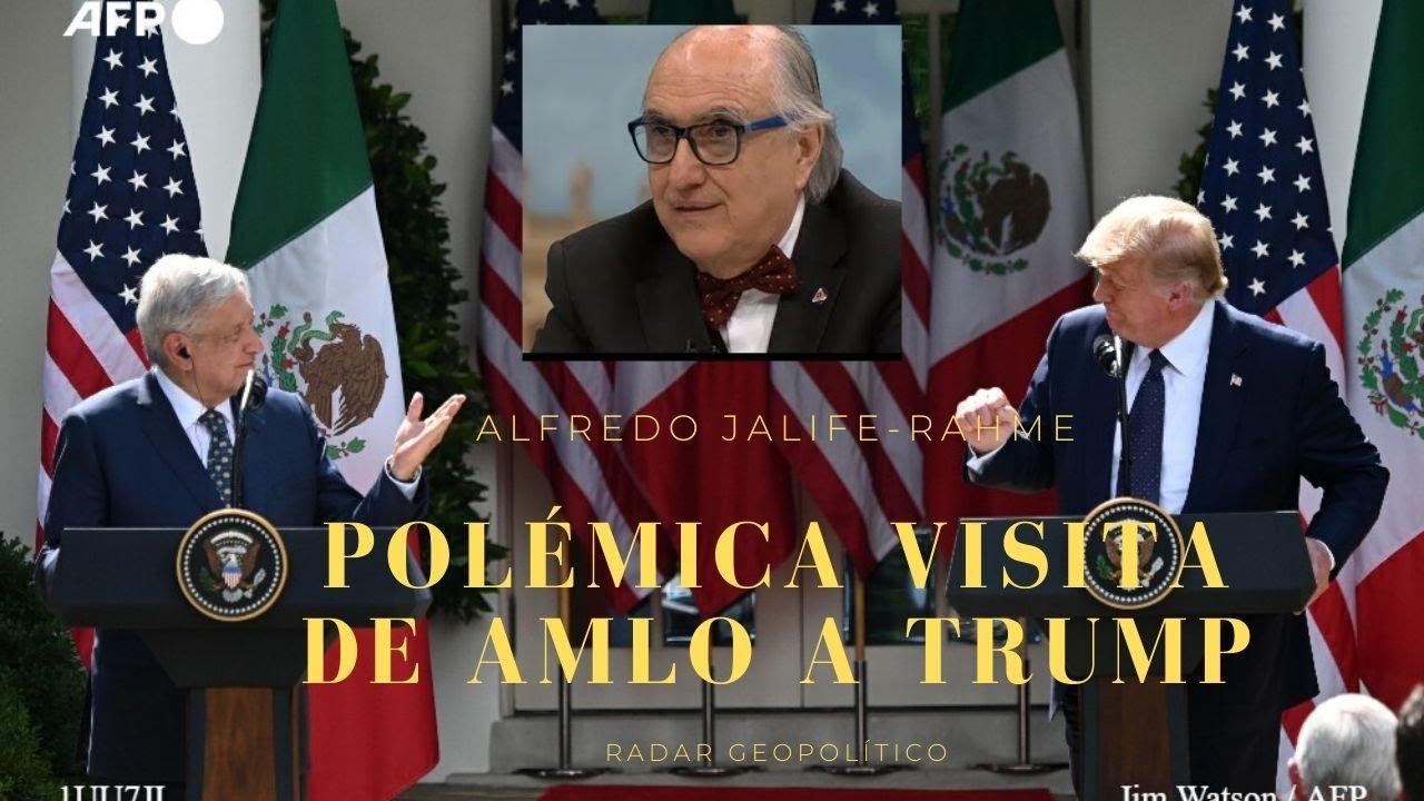 Polémica visita de AMLO a Trump