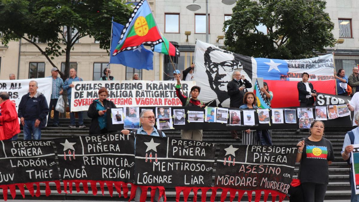 Estocolmo se suma al clamor por la libertad de los presos políticos en Chile!