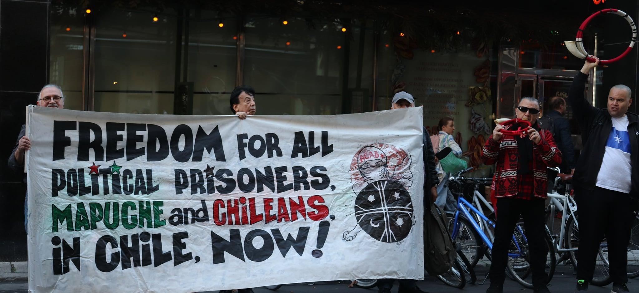 Desde Suecia exigimos libertad para los presos políticos en Chile