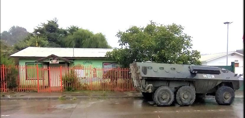 Un tanque frente a un jardín infantil: la militarización cotidiana y el estallido que se viene