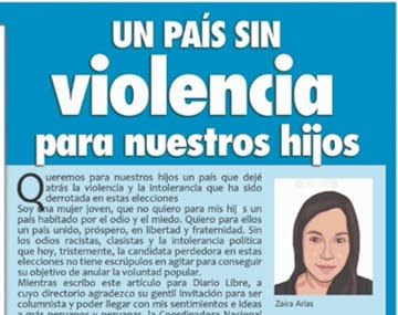 Perú: «Un país sin violencia para nuestros hijos»
