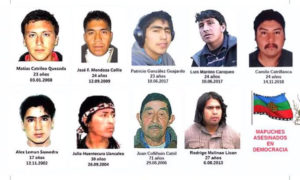 Mapuche asesinados por los gobiernos democráticos. Ahora habrá que agregar a Pablo Marchant.