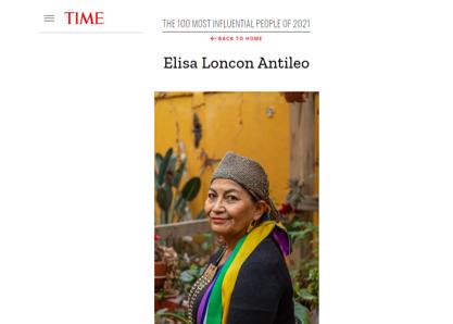 TIME: Elisa Loncon Antileo entre las 100 personas más influyentes del mundo