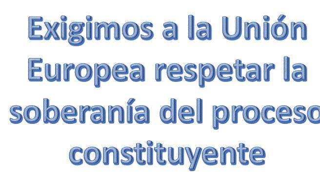 Delegación de eurodiputados atenta contra la soberanía del proceso constituyente